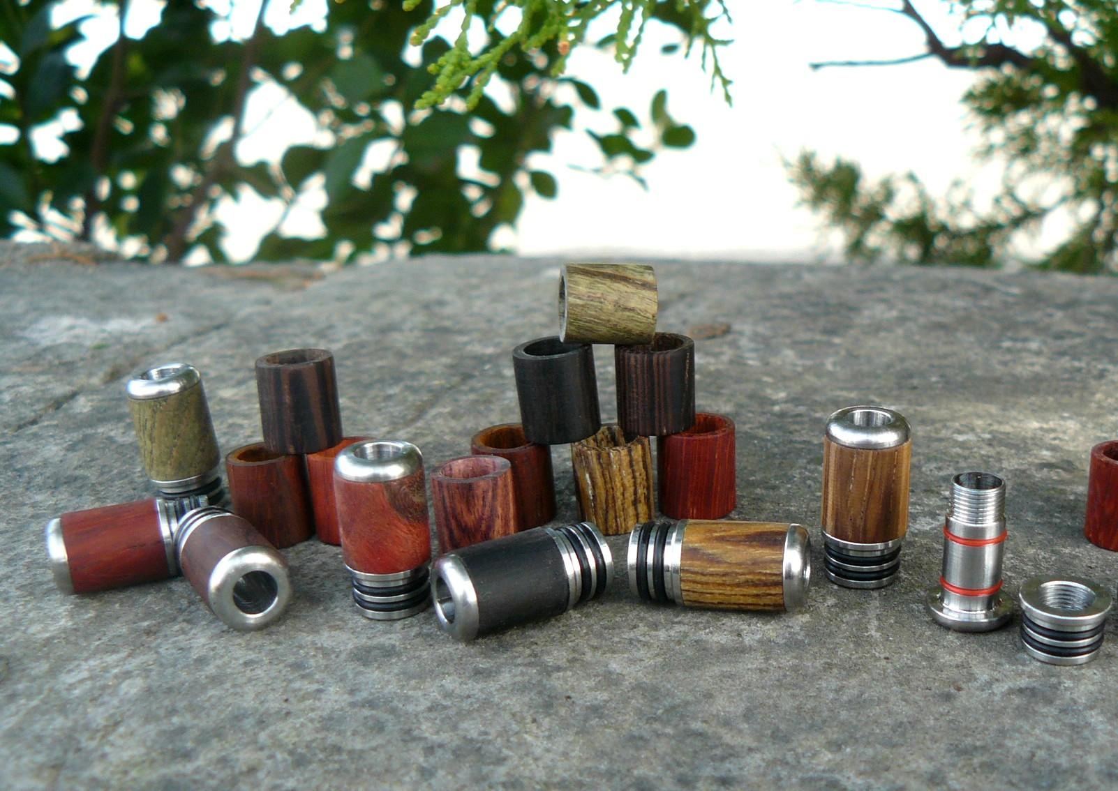 Système de drip-tip en bois modulable