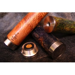 Phileas 18650 mod Stabilized Wood 24mm